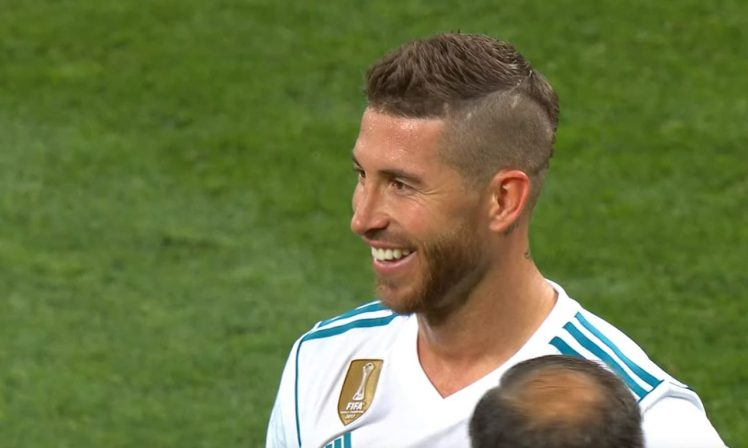 Sergio Ramos Was Seen Smiling As Mohamed Salah Left The Field