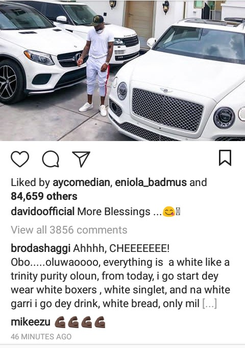 More Blessings As Davido Poses With His Cars & House All In