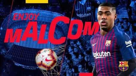 Barcelona Signs Malcom From Bordeaux (Photos)
