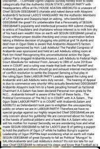 Ogun Labor Party Factional Chairman Blasts Segun Odegbami Over Guber Candidacy