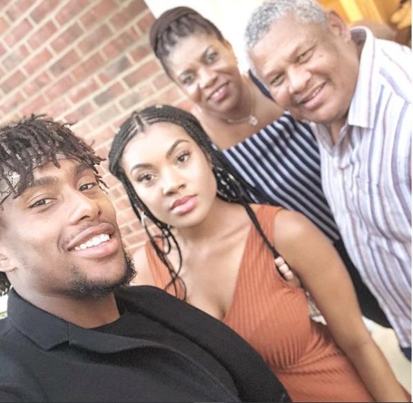 Alex Iwobi, His Sister And Parents In Cute Family Photo