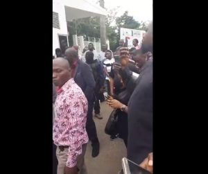 Heavy Protest Rocks National Assembly Over Plot To Impeach Saraki (Photos)