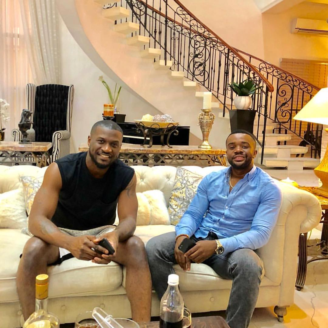"""""""Enjoyment Ministers"""": Actor, Williams Uchemba Visits Peter Okoye At His Mansion"""