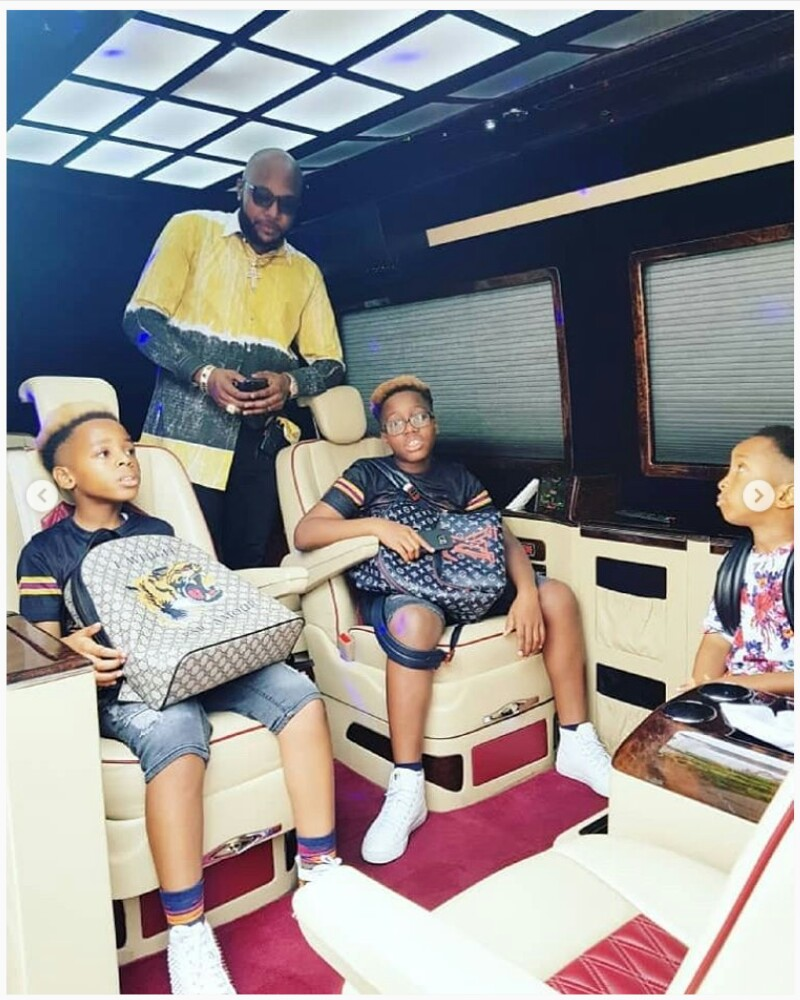 Cute Photographs Of E-Cash And His Sons Rocking Blonde Coiffure (Photographs)