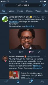 Nigerians Celebrate SEGALINK As Efforts On #EndSARS Pays Off