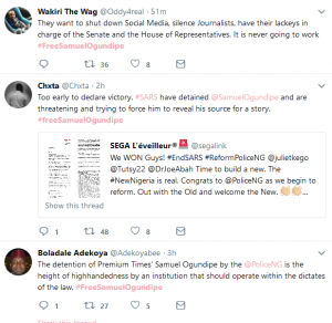 #FreeSamuelOgundipe Trends On Twitter After SARS Arrested Premium Times Reporter