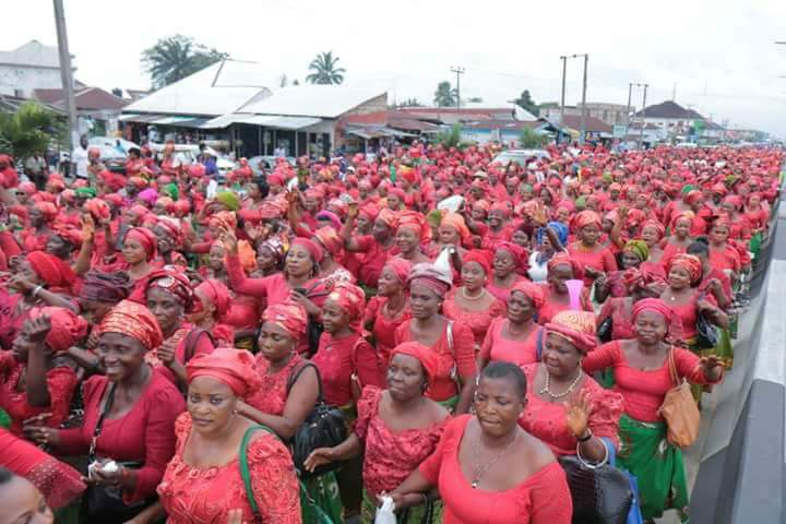 Akwa Ibom Women Storm The Streets Of Uyo In Solidarity For Udom (Photos)