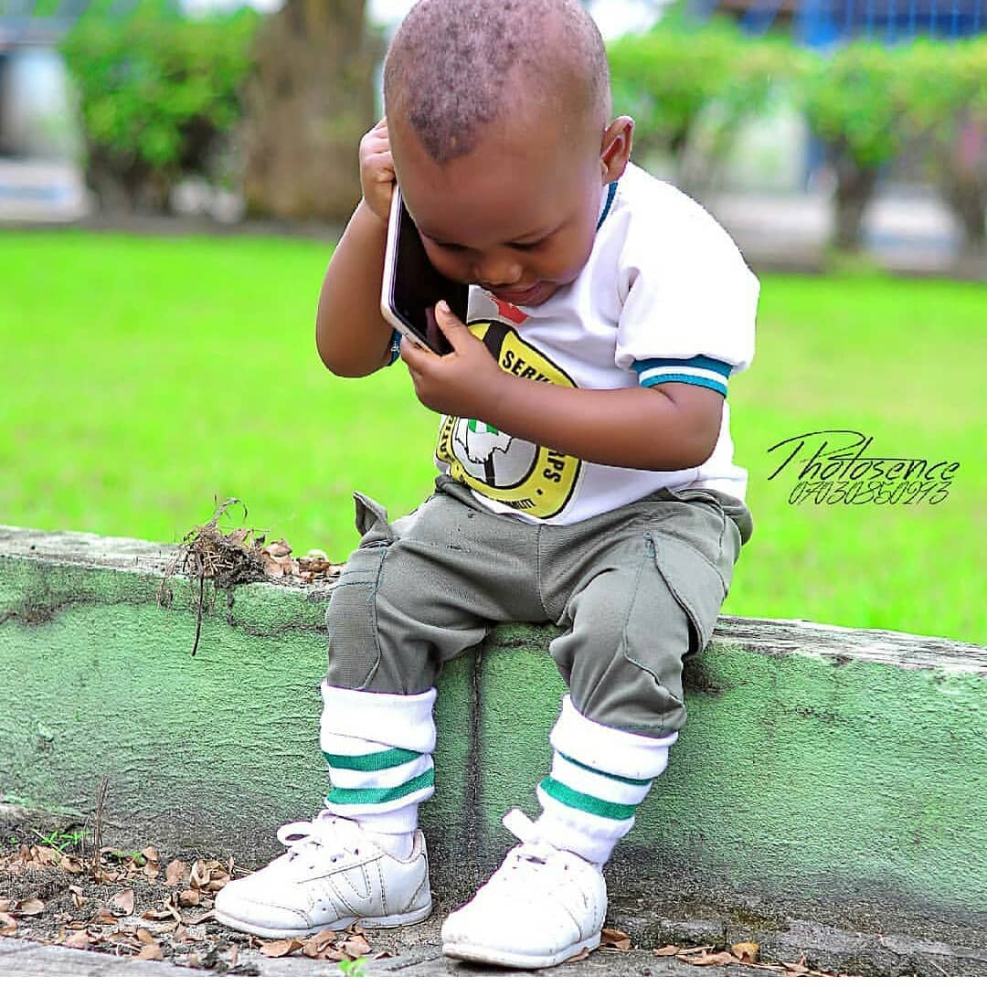 Cute Little Boy Rocks NYSC Kit In Style