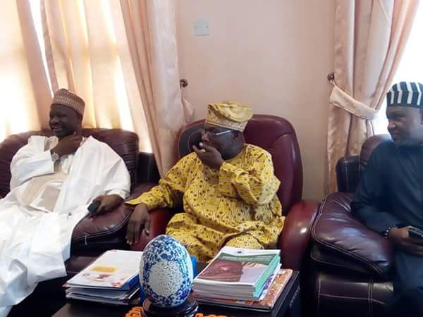 Photos From The Meeting Of Governor Dankwambo And Obasanjo