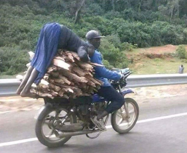 Kenyan Girl Pictured Hanging On A Motorbike Carrying Firewood Gets Help (Pics)