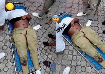 Lagos Female Corper Knocked Down By A Reckless Driver (Graphic Photo)