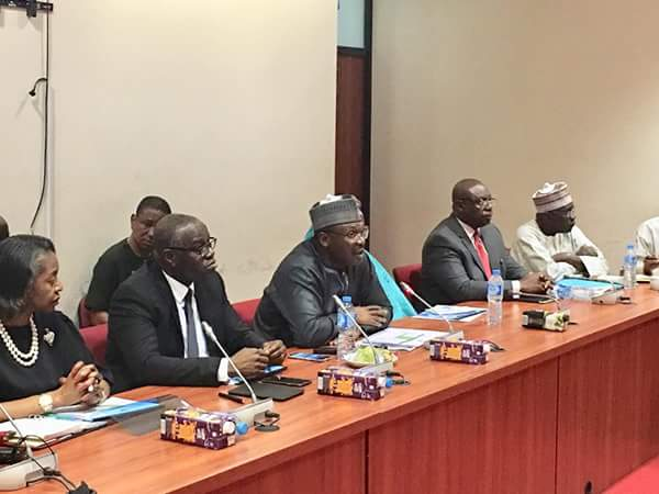 INEC Chairman, Prof. Mahmood, Presents 2019 INEC Budget To Senate (Photos)