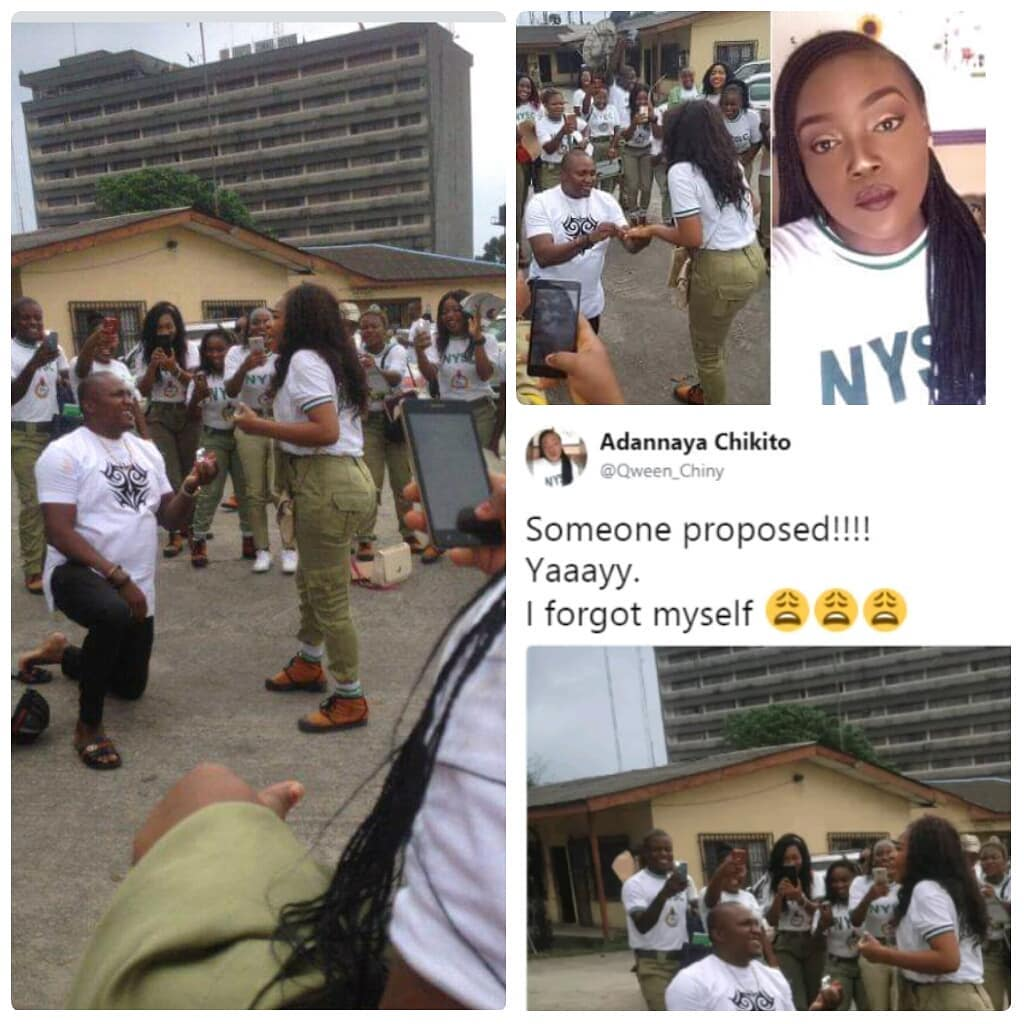 Man Proposes To Corper Girlfriend In Port Harcourt During Her Passing Out Parade
