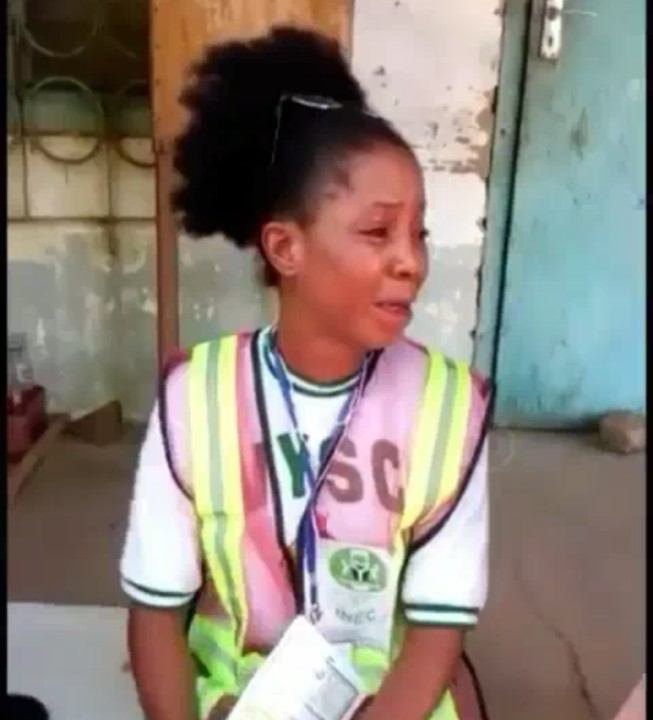 Pretty Corper Cries After Political Thugs Kidnapped Her For Refusing To Rig Election