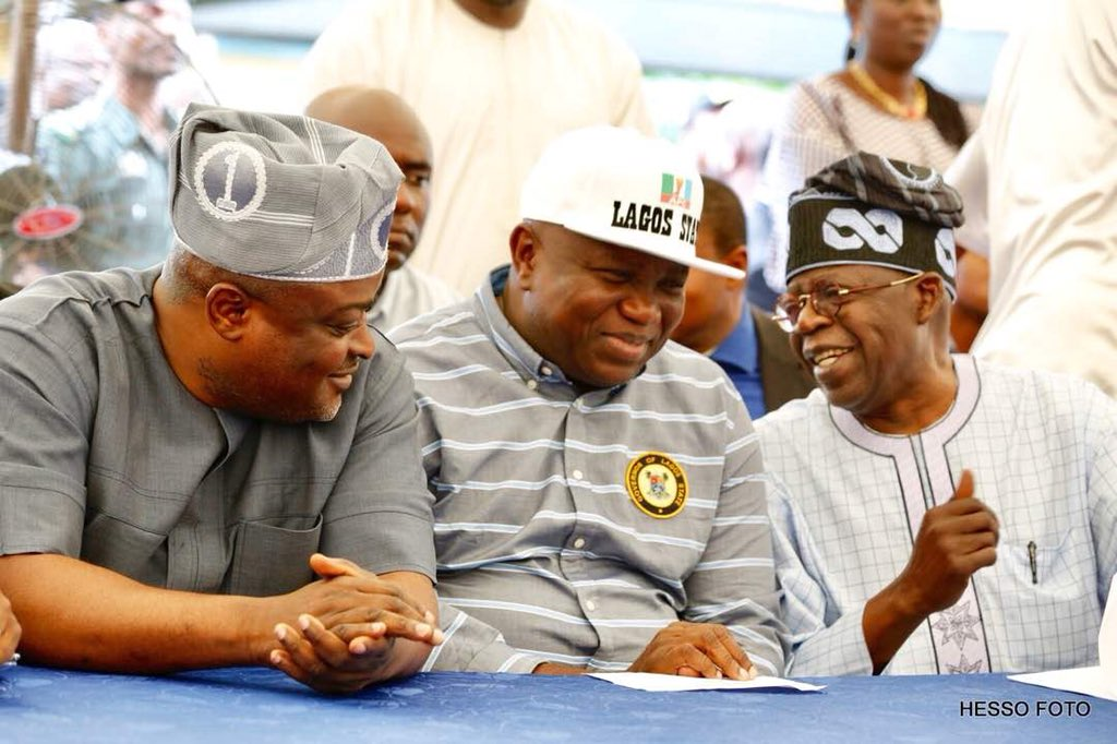 Tinubu And Ambode All Smiles At APC Stakeholders Meeting In Lagos (Photos)