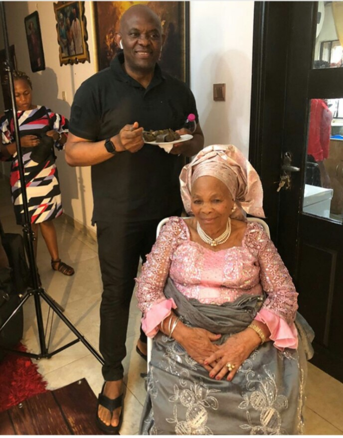 Tony Elumelu's Mom Set To Mark Her 90th Birthday, However She Seems to be Youthful (Pictures)