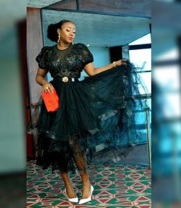Ini Edo Looking Gorgeous In A Black Dress (Photos)