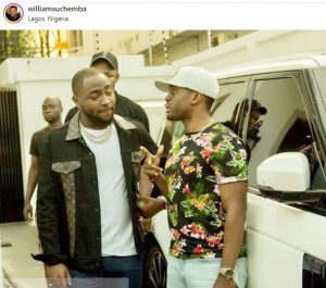 Actor Williams Uchemba Hangs Out With Davido As He Arrives Nigeria (Photo)