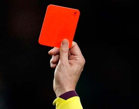 """Image result for referee red card ghana"""""""