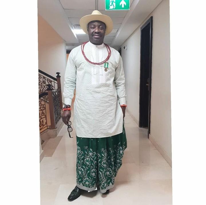 Ali Baba Rocks Urhobo Native Outfit - 9jaflaver
