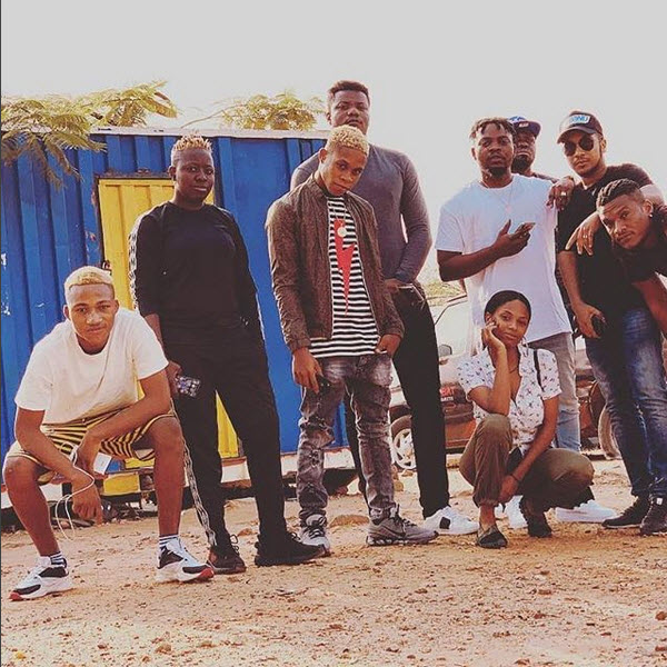 Olamide And His YBNL Squad Strike A Pose (Photos) - 9jaflaver
