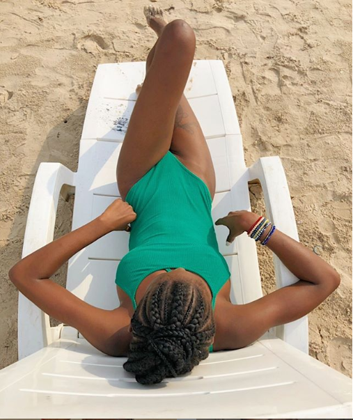 #ViralNow: BBNaija Star Khloe Flaunts Her Figure In Skimpy Swimsuits (Photos) 4