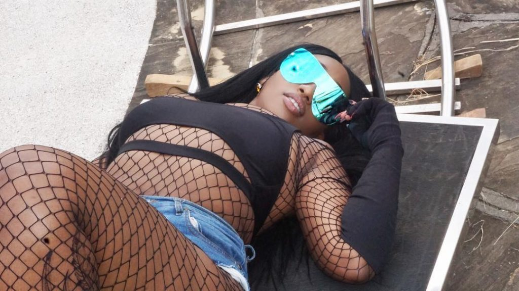#ViralNow: Victoria Kimani Pose in Fish Net Outfit (Photos) 3