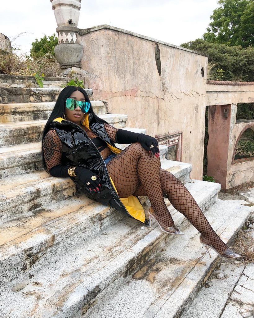 #ViralNow: Victoria Kimani Pose in Fish Net Outfit (Photos) 1