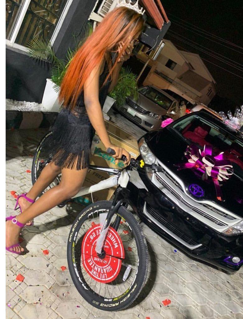 "#ViralNow: BBNaija Star ""Alex"" got a car as birthday present from her fans 3"