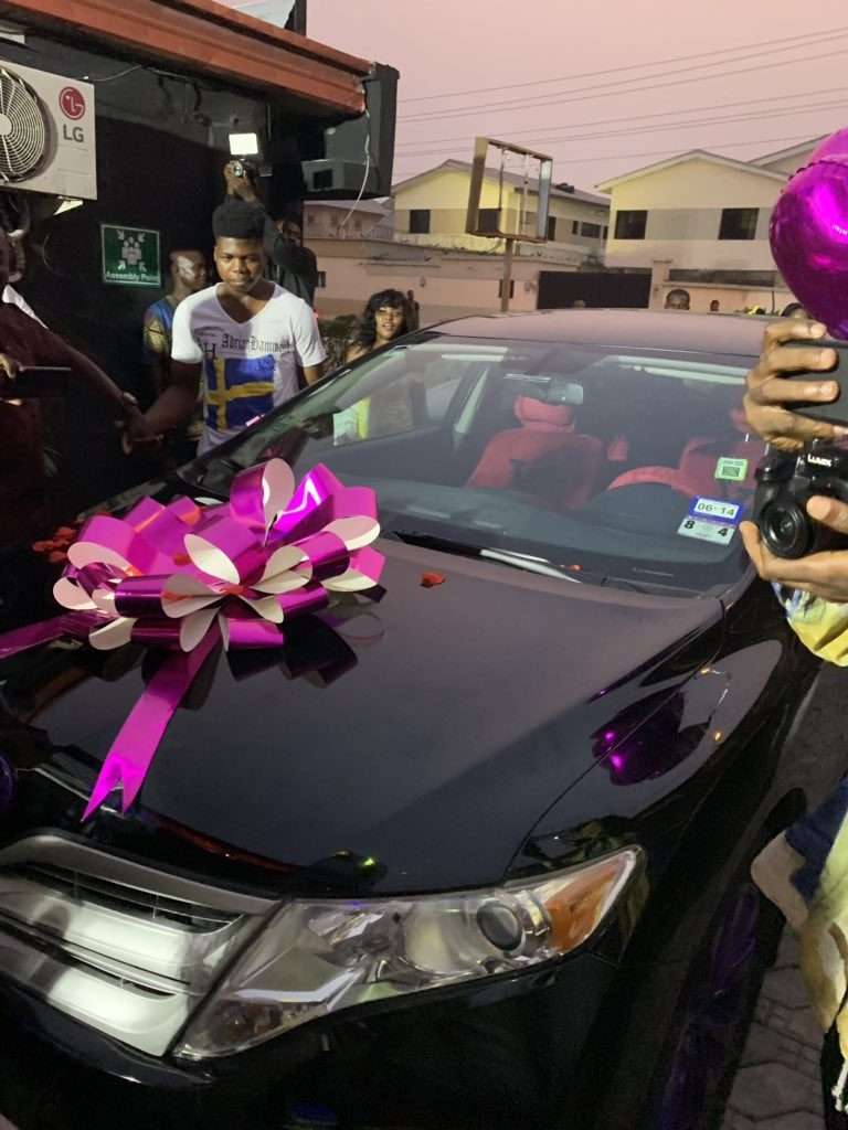 "#ViralNow: BBNaija Star ""Alex"" got a car as birthday present from her fans 2"
