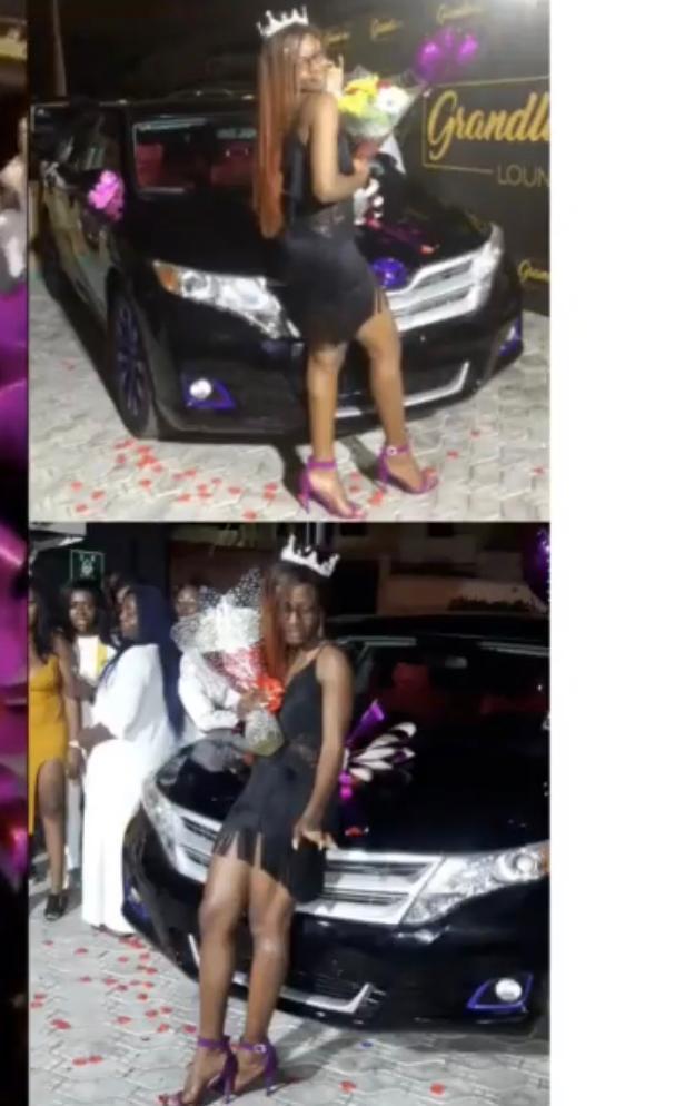 "#ViralNow: BBNaija Star ""Alex"" got a car as birthday present from her fans 1"