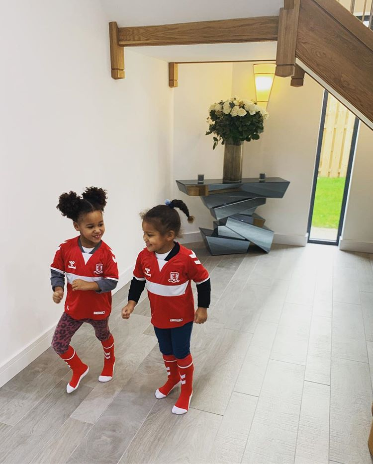 Mikel Obi's Twin Daughters Rocks Dad's New Club Jersey 2
