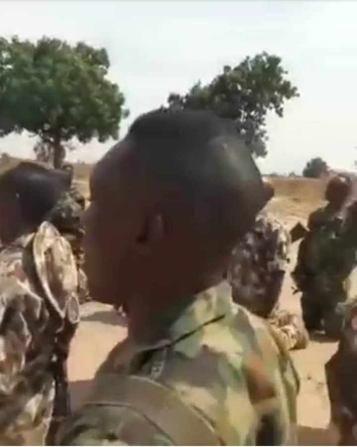Soldiers Fighting Boko Haram Kneel Down, Sing And Pray With