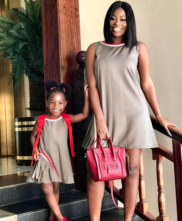 #ViralNow: Sophia Momodu And Daughter, Imade Step Out In Matching Attires 1