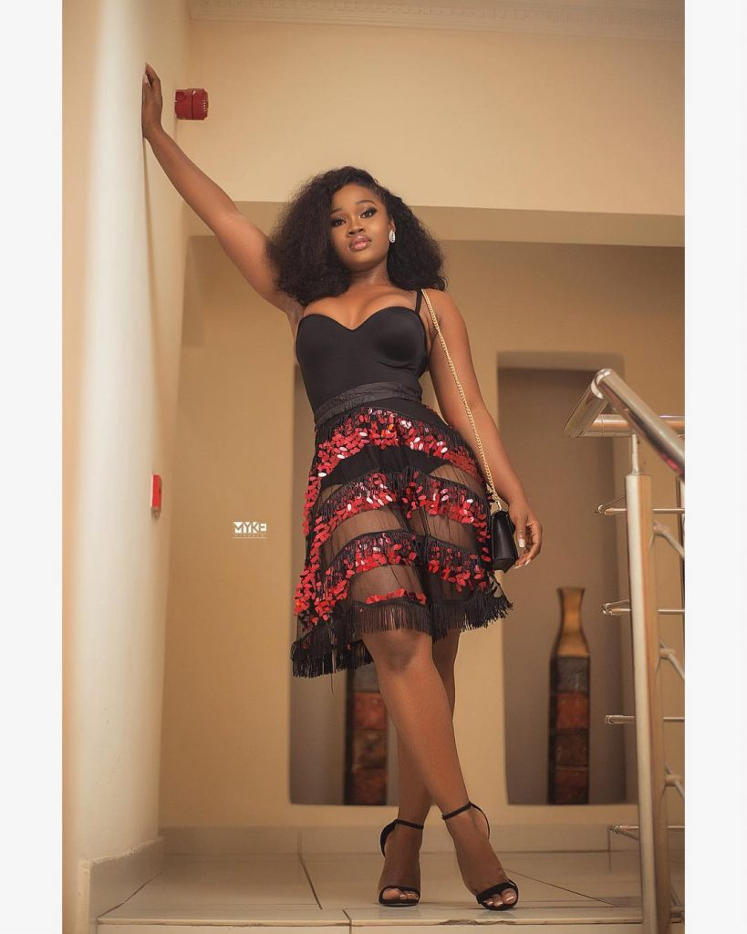 "BBNaija Star ""Cee-C"" Shines In Cute Transparent Outfit"
