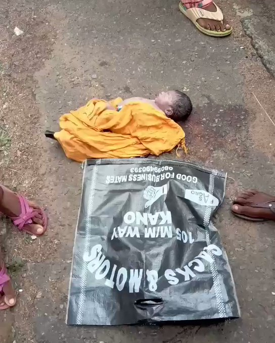 Dead Body Of A Newborn Baby Found In A Poly Bag In University Of Ibadan (Graphic)