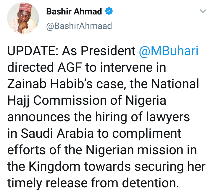 FG Hires Lawyers In Saudi Arabia To Facilitate The Release