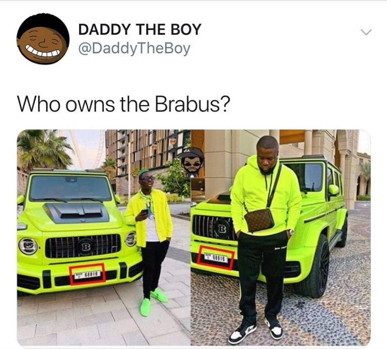 Who Really Owns The Brabus? Hushpuppi And Zlatan Claiming To Be Owners Of The Same Car