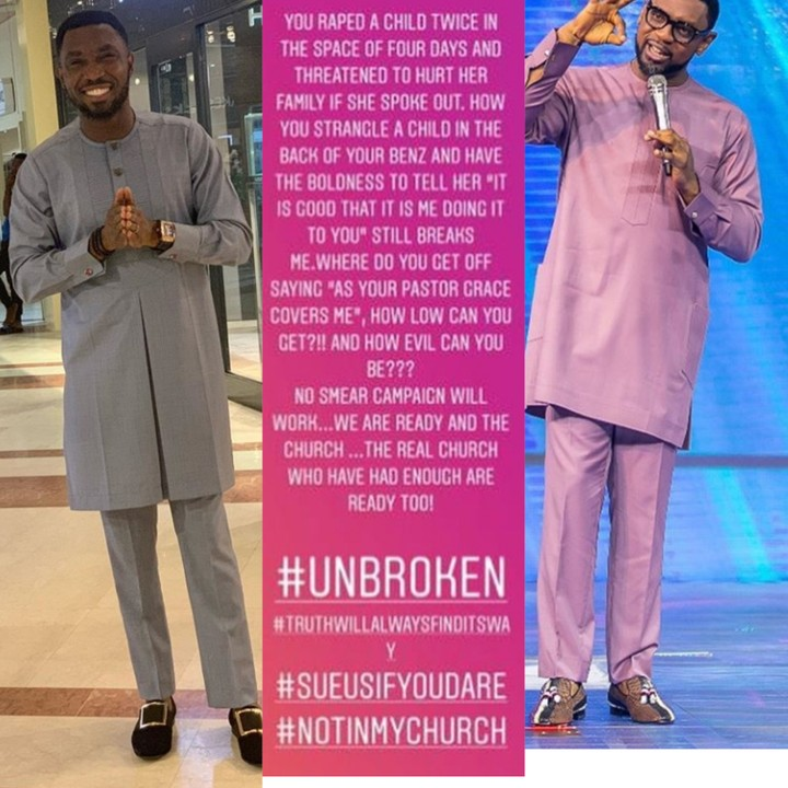 Timi Dakolo Dares Pastor Biodun Fatoyinbo To Sue Him And His Wife, Busola Dakolo