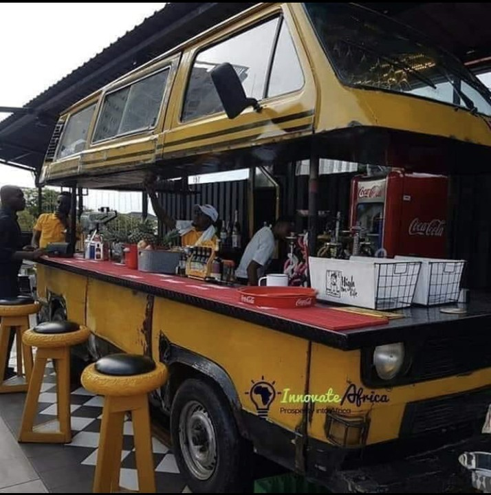 A Lagos Danfo Turned To Bar And Restaurant (Photo)