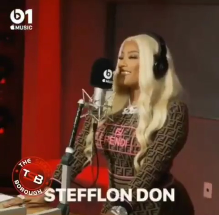 Stefflon Don Gushes About Burna Boy On Radio, Calls Him Her Husband