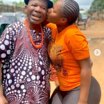 Actress Destiny Etiko Kisses Chiwetalu Agu As He Rests His Head On Her Chest On Set