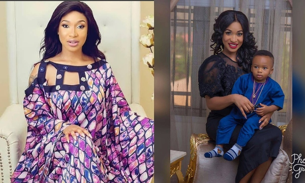 'RIP To All Dead Beat Dads' – Tonto Dikeh Thanks Boyfriend For Being A Father