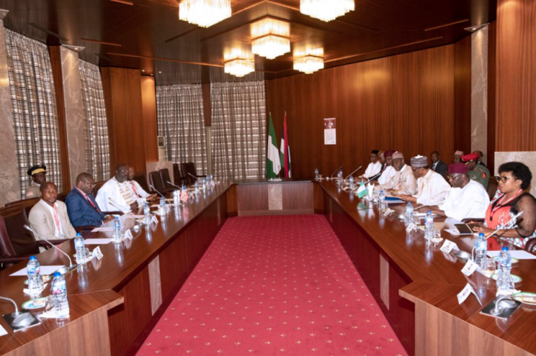 President Buhari, APC Governors Meet In Aso Rock