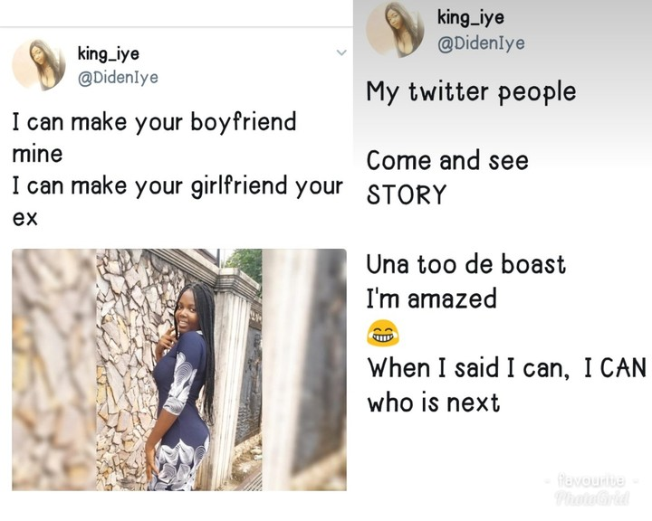 Lady Loses Her Boyfriend To Another Lady After Twitter Bet (Photos)