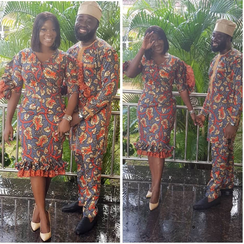 Mercy Johnson And Husband Step Out In Matching Outfits
