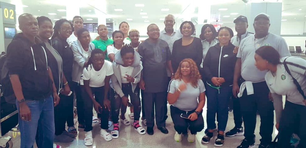 Super Falcons Arrive Nigeria After Being Knocked Out Of FIFA Women's World Cup