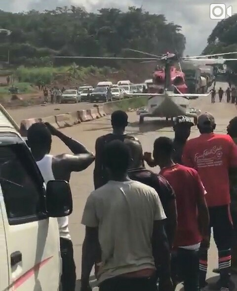 Aviation Authority Investigates Helicopter's Landing On Benin-Ore Highway