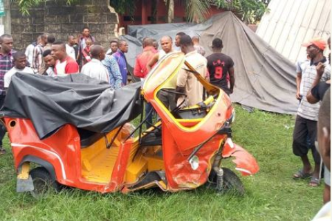 Businessman Rams His SUV Into A Keke NAPEP Used By Escaping Armed Robbers (Photos)