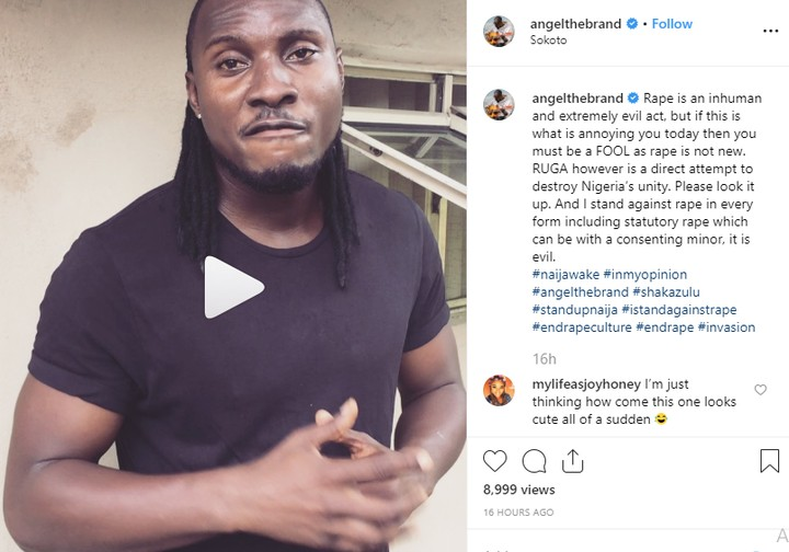 RUGA: BBNaija's Angel Accuses President Buhari Of Islamization And Fulanization